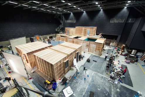 On the set of The Babadook in Sound Stage 1 at Adelaide Studios. Photo Credit: Adelaide Studios Website.