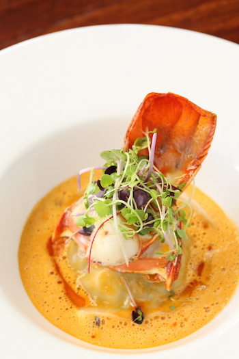 Crab Ravioli with Lobster Medallion web