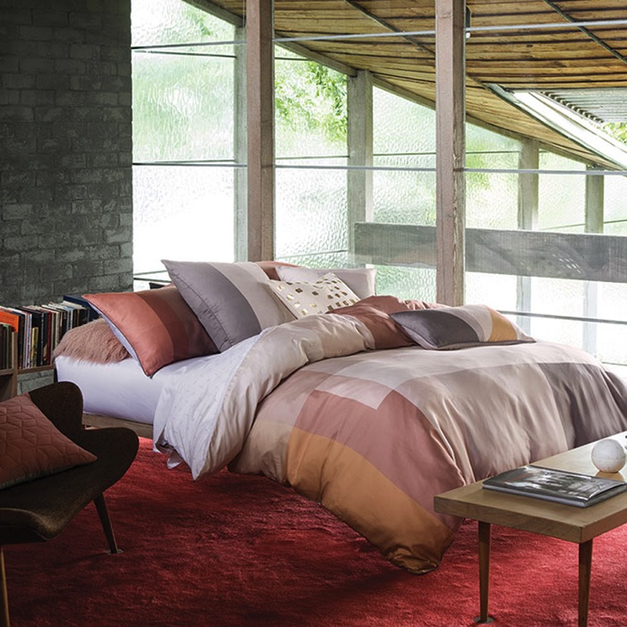 Ethan Quilt Cover Set, Coral - From $179.95