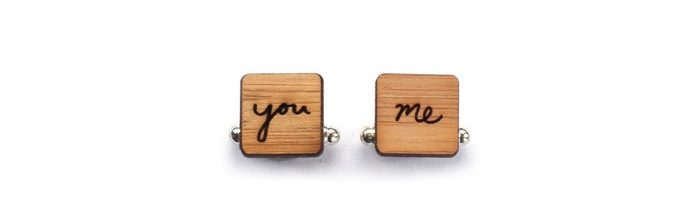 You And Me Cufflinks Onehappyleaf.etsy.com $35